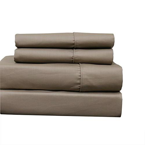 Sheetsnthings Set of Pillowcases, 650 - Solid Taupe - Soft, Cotton Pillowcases