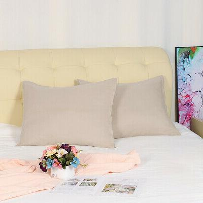 Pillowcases Soft 100% with Zipper, 2