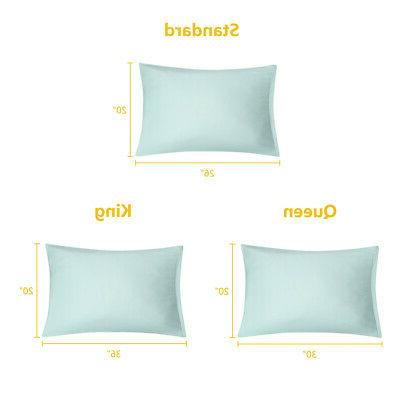 Pillowcases 100% Brushed Microfiber Cover with Zipper, Pack