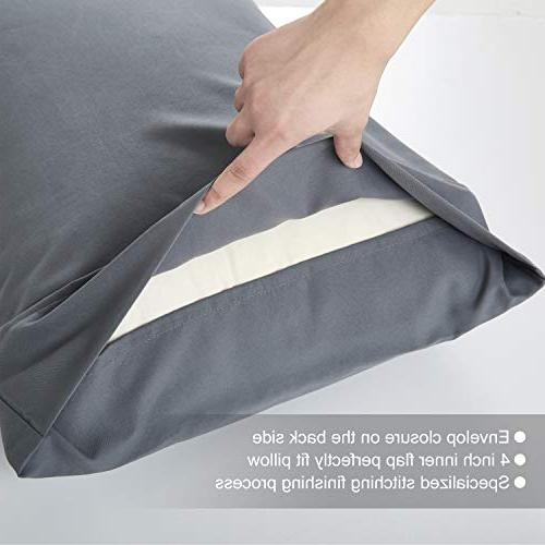 Cosy Pillowcases Size Superior Soft 100% Double Microfiber Stitched of