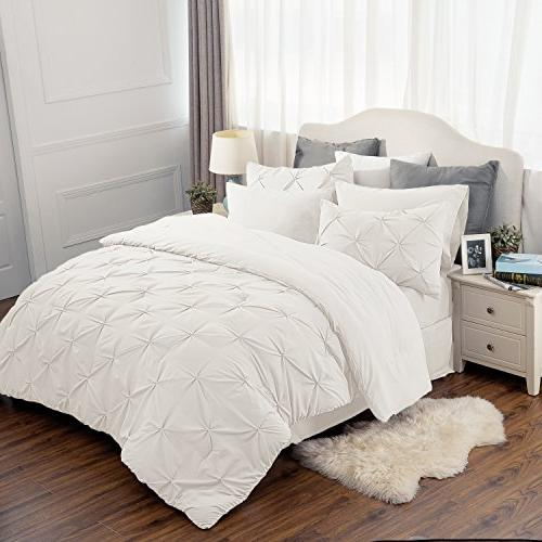 pinch pleat comforter set king