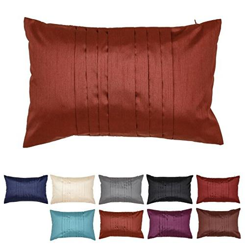 pleated faux silk pillow cover