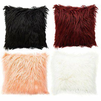 Fur Plush Throw Cases Waist Cushion Cover Decors