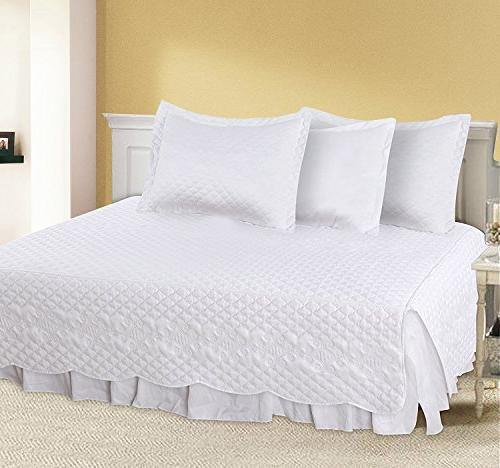 Daybed - Brushed - 1 Bed Quilted Pillow Shams, Pillowcase and 1 Bedspread &