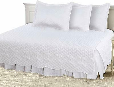 Utopia 5 Daybed - Brushed Bed Skirt, 2 Quilted Pillow and & Extremely Durable