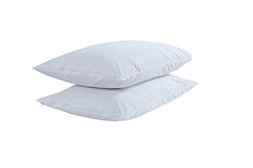Niagara Solution Anti Bed Dust Pillow Protectors Premium Zippered Pillow Anti Breathable Non Luxury Free