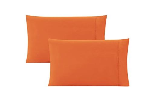 king solid orange pillow cases