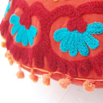 Round Embroidered