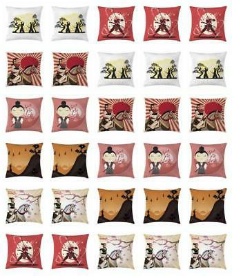 samurai throw pillow cases cushion covers by