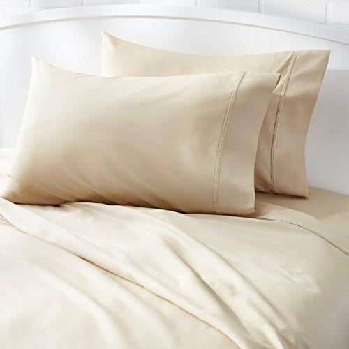 Set Cases 400 Thread Count Cotton Sateen Wrinkle