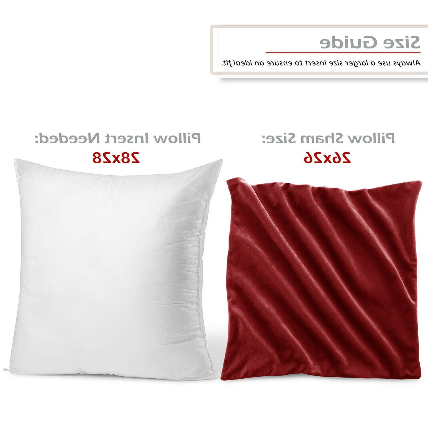Throw Pillow Covers of Velvet Case Sizes 36 Colors!