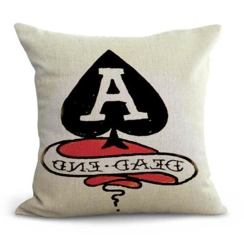 set throw pillow cases Sailor Jerry girl heart