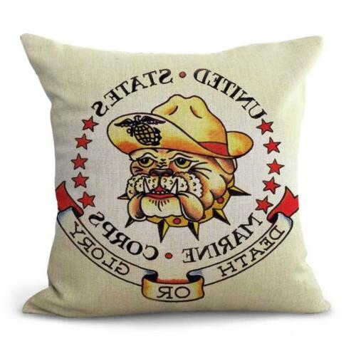 set 4 throw pillow cases Jerry girl heart dagger