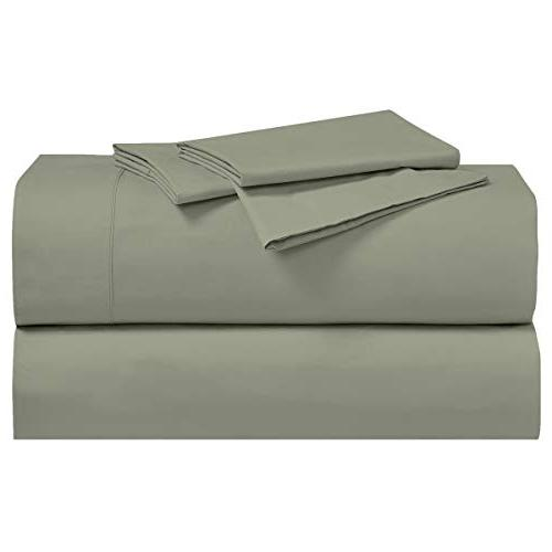 set pillowcases pair solid sage