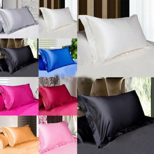Silk Pillow Cover Bed Home Sofa