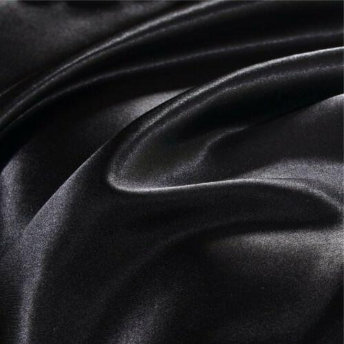 Silk Satin Cover Fitted Soft Pillow Cases 4pcs