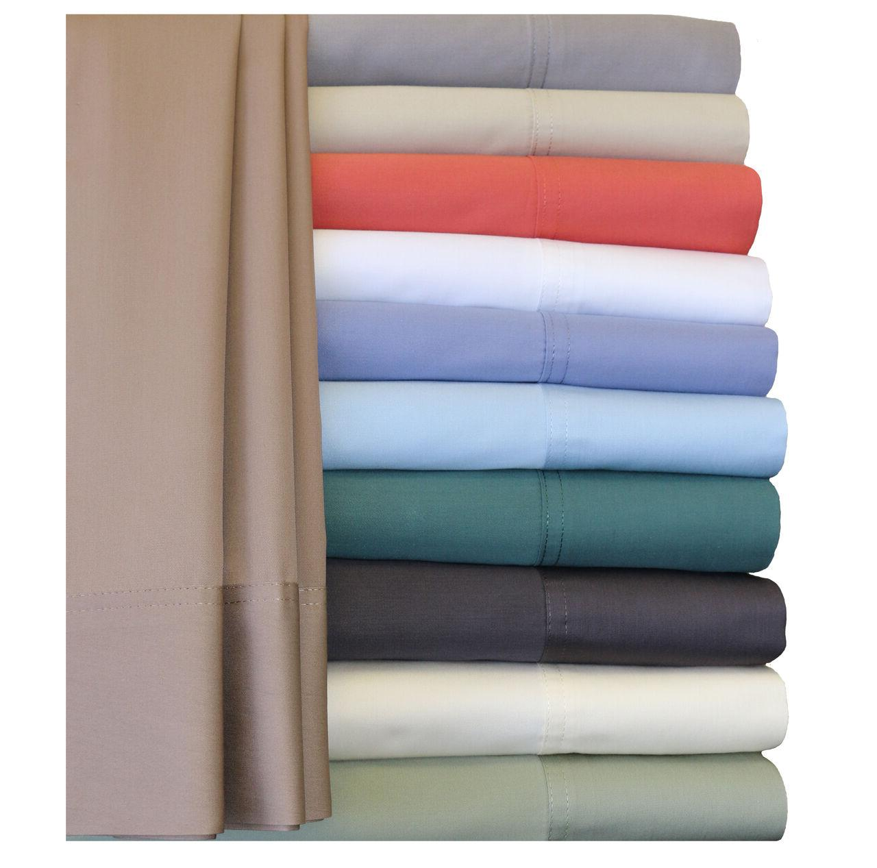Silky Soft 100% Cotton Pillow Cases, Hybrid Bamboo 2PC