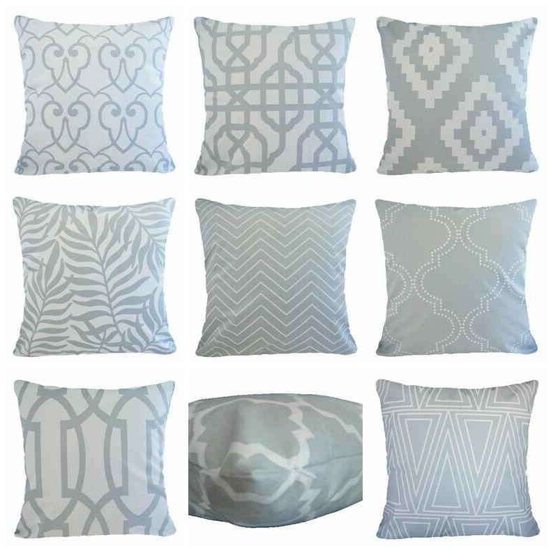 soft velvet gray throw pillow cover geometry