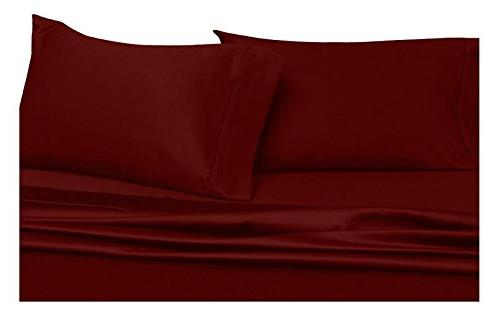 solid burgundy king pillowcases