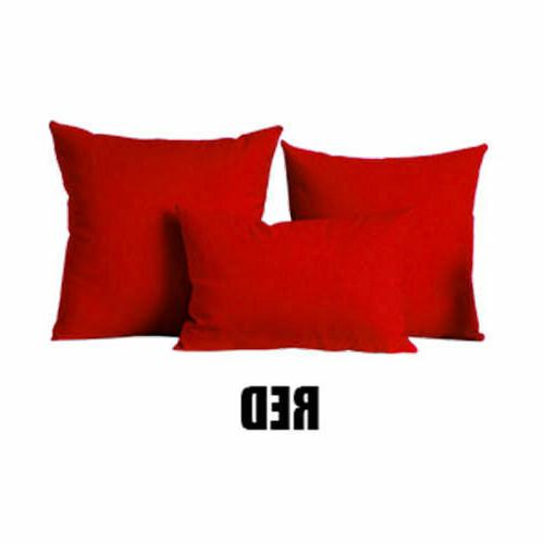 Solid Home Sofa Pillow Case 18