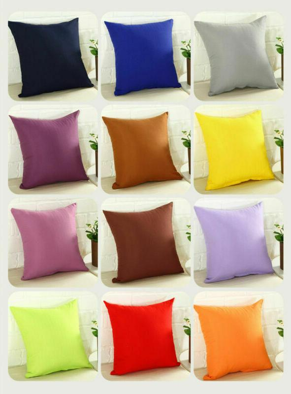 Solid Sofa Decor Pillow Cover Size