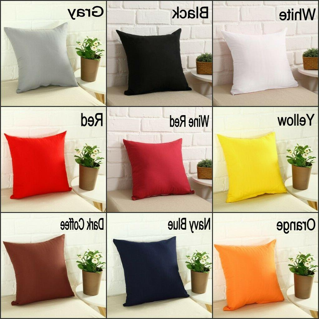 """Solid Color Square Home Sofa Pillow 18 24"""""""