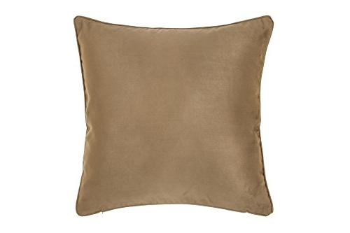 DreamHome 26 Inches Brown Faux Pillow Case with Super Soft High Quality Faux Sides