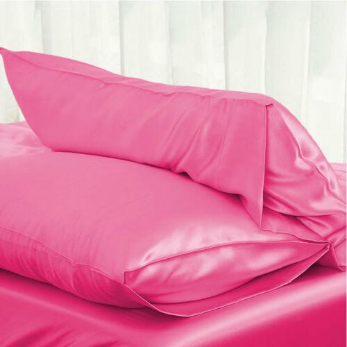 Solid Pillow Case Bedding Pillowcase Smooth