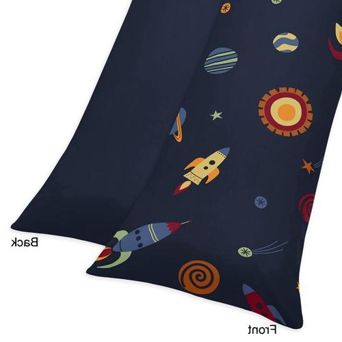 Sweet Galaxy Rocket Length Double Pillow Case