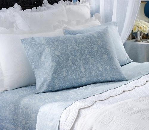 spring hill blue lace scroll