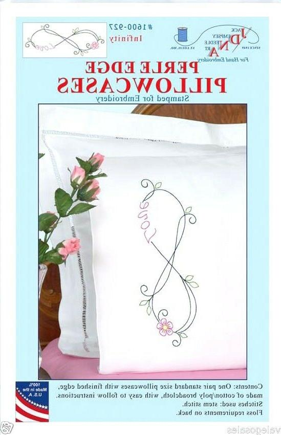 Stamped Pillowcases Edge 2/Pkg-Infinity