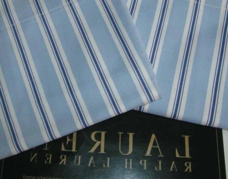 RALPH LAUREN Standard Pillowcases NEW TAMARIND BLUE