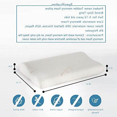 Pillow for Contour Pillow for Kids, Toddlers, Children, with Zipper Pillow Case