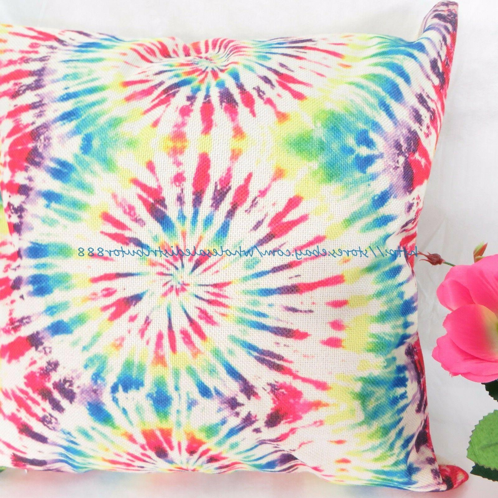 toddler pillow cases tie dye swirl cover