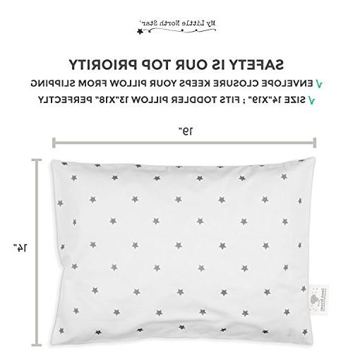 Toddler Pillowcase GOTS Certified - Hypoallergenic Comfortable No Chemicals Grey