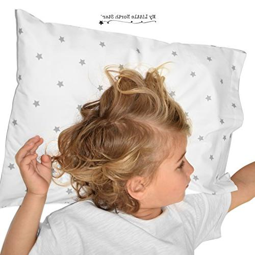 Toddler Pillowcase - Hypoallergenic and Comfortable Chemicals on Your Skin White Grey