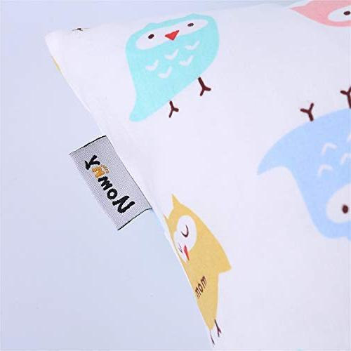 Kids 2 Pillowslip Case sizesd or Kids Baby Cases Pink/White Owl