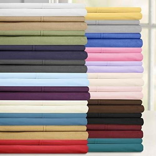Sweet Home Collection Twin Size Bed Sheets - 4 Piece 1500 Thread Count