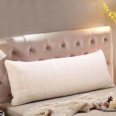 ultra soft sherpa body pillow cover case