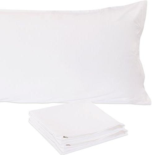 Utopia Bedding Soft Zippered Body Pillow Cases - Brushed Microfiber - Body - White