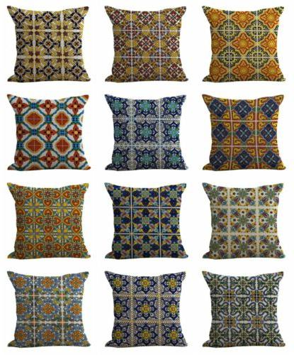 US of 50 pillow Azulejo covers