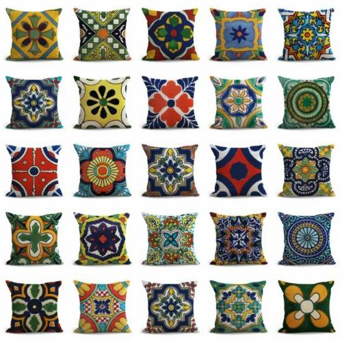 US of 50 throw Azulejo Mexican talavera covers