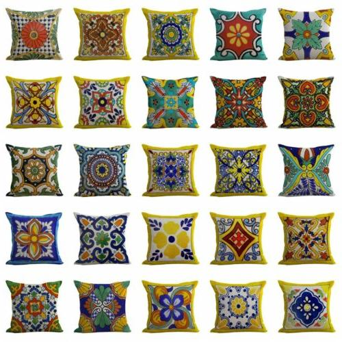 US SELLER- 50 cases Azulejo Mexican talavera cushion covers