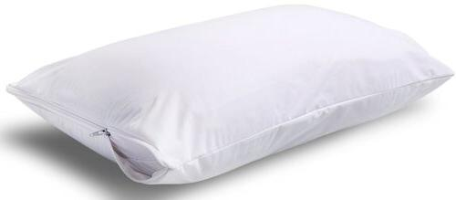 Waterproof Zippered Bed Bug Pillow Cover Protects Dust