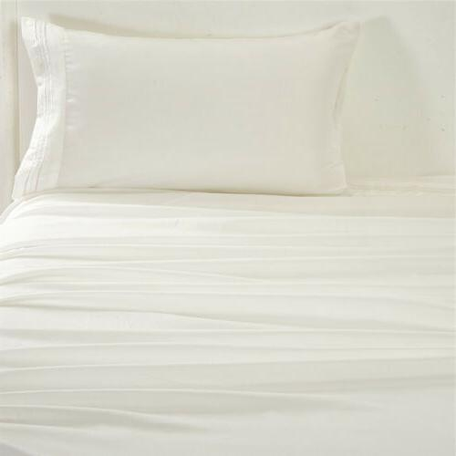 White Sheet Thread Soft 4 Queen King