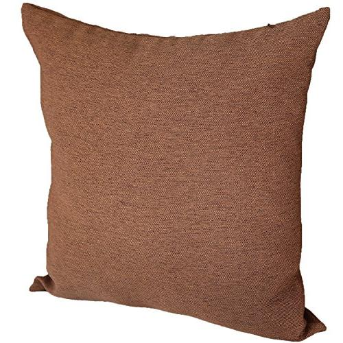 Deconovo Woven Faux Linen Hand Cover with Invisible for 16 8 16