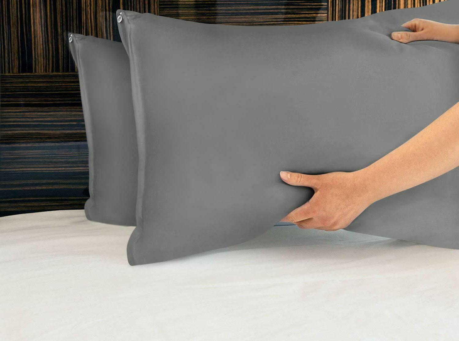 Zippered Pillow Cases Cover Pack Bedding