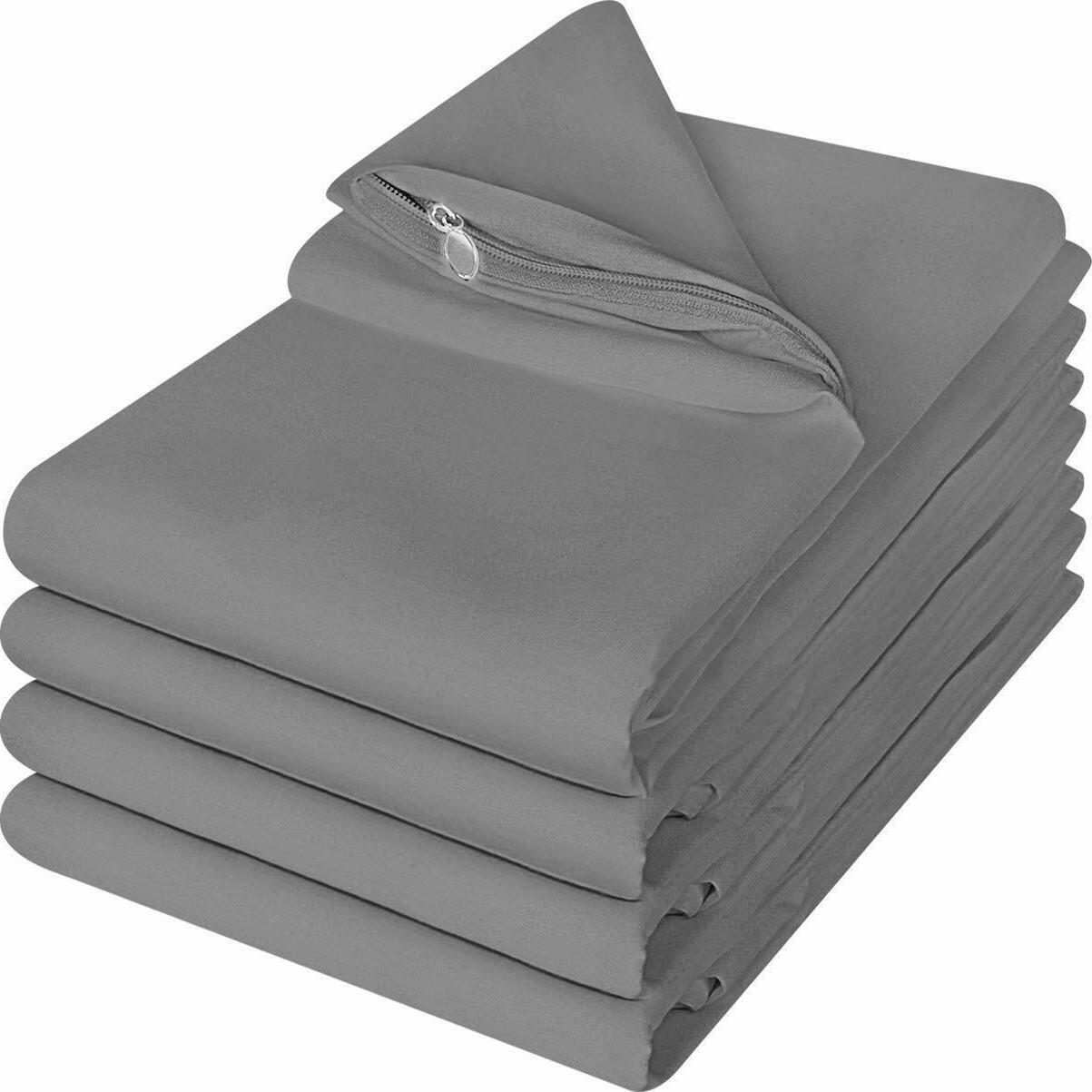 zippered pillow cases pillowcases cover brushed microfiber