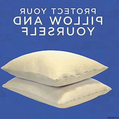 Zippered Pillow Waterproof Terry Cover