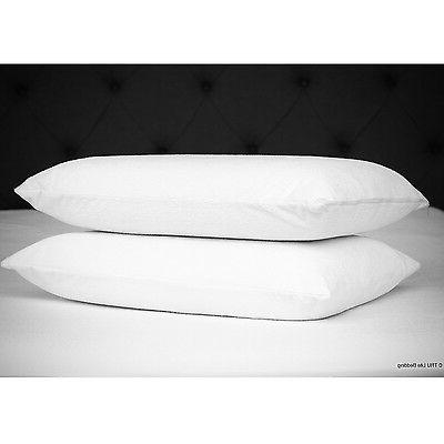 Zippered Pillow Case Waterproof Cotton Cover Set